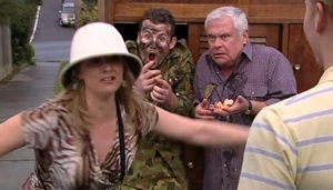 Janelle Timmins, Toadie Rebecchi, Lou Carpenter in Neighbours Episode 4875