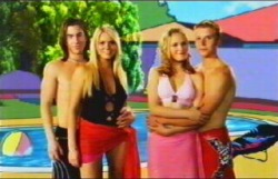 Dylan Timmins, Sky Mangel, Janae Timmins, Boyd Hoyland in Neighbours Episode 4876