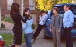 Katya Kinski, Rachel Kinski, Zeke Kinski, Susan Kennedy, Karl Kennedy in Neighbours Episode 4880
