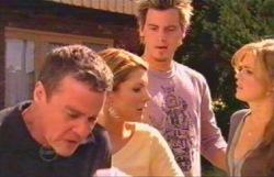Paul Robinson, Elle Robinson, Izzy Hoyland, Ned Parker in Neighbours Episode 4888