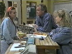 Bronwyn Davies, Jim Robinson, Sharon Davies in Neighbours Episode 0998