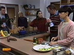 Matt Robinson, Helen Daniels, Kerry Bishop, Harold Bishop, Hilary Robinson in Neighbours Episode 0999