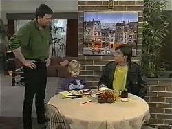 Des Clarke, Jamie Clarke, Mike Young in Neighbours Episode 1001
