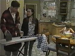 Joe Mangel, Kerry Bishop, Toby Mangel in Neighbours Episode 1002