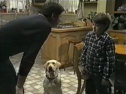Joe Mangel, Bouncer, Toby Mangel in Neighbours Episode 1002