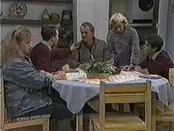 Sharon Davies, Nick Page, Jim Robinson, Helen Daniels, Todd Landers in Neighbours Episode 1003
