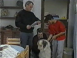 Jim Robinson, Nick Page, Todd Landers in Neighbours Episode 1003