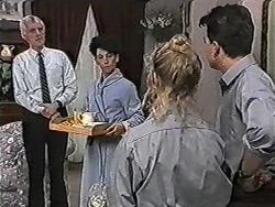 Kenneth Muir, Hilary Robinson, Sharon Davies, Matt Robinson in Neighbours Episode 1081