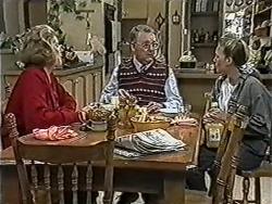 Madge Bishop, Harold Bishop, Bronwyn Davies in Neighbours Episode 1081