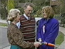 Helen Daniels, Harold Bishop, Madge Bishop in Neighbours Episode 1081