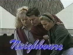 Sharon Davies, Matt Robinson, Bronwyn Davies in Neighbours Episode 1082