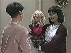 Hilary Robinson, Sky Bishop, Kerry Bishop in Neighbours Episode 1083