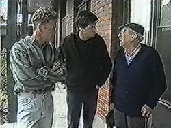 Henry Ramsay, Joe Mangel, Stan Cooper in Neighbours Episode 1083