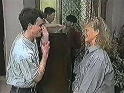Jason, Hilary Robinson, Sharon Davies in Neighbours Episode 1083