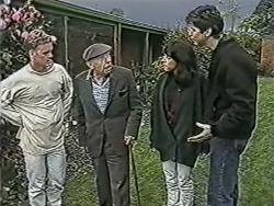 Henry Ramsay, Stan Cooper, Kerry Bishop, Joe Mangel in Neighbours Episode 1084