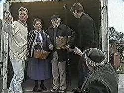 Henry Ramsay, Norm, Joe Mangel, Stan Cooper in Neighbours Episode 1084