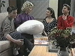 Todd Landers, Helen Daniels, Lucy Robinson, Nick Page in Neighbours Episode 1084