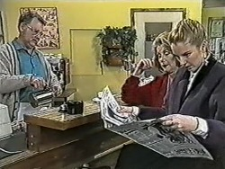 Harold Bishop, Madge Bishop, Melanie Pearson in Neighbours Episode 1085