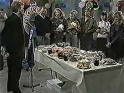 Reverend Richards, Harold Bishop, Madge Bishop, Bronwyn Davies, Melanie Pearson in Neighbours Episode 1086