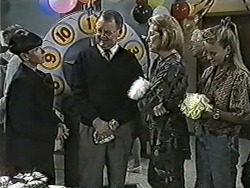 Hilary Robinson, Harold Bishop, Madge Bishop, Bronwyn Davies in Neighbours Episode 1086