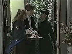Melanie Pearson, Reverend Richards, Hilary Robinson in Neighbours Episode 1086