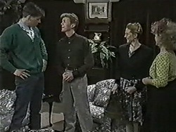 Brad Willis, Reverend Richards, Melanie Pearson, Sharon Davies in Neighbours Episode 1087