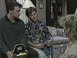 Matt Robinson, Todd Landers, Sharon Davies in Neighbours Episode 1088