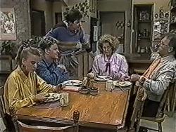 Bronwyn Davies, Henry Ramsay, Joe Mangel, Madge Bishop, Harold Bishop in Neighbours Episode 1089
