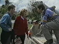 Henry Ramsay, Madge Bishop, Joe Mangel in Neighbours Episode 1089