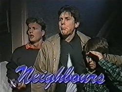 Henry Ramsay, Joe Mangel, Toby Mangel in Neighbours Episode 1089