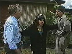 Harold Bishop, Kerry Bishop, Joe Mangel in Neighbours Episode 1091