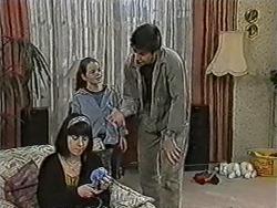 Kerry Bishop, Lochy McLachlan, Joe Mangel in Neighbours Episode 1091