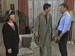 Kerry Bishop, Joe Mangel, Harold Bishop in Neighbours Episode 1091