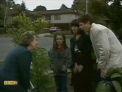 Mrs. Edwards, Lochy McLachlan, Kerry Bishop, Joe Mangel in Neighbours Episode 1093
