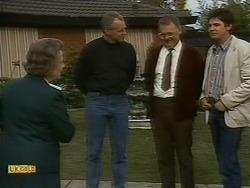 Mrs. Edwards, Jim Robinson, Harold Bishop, Joe Mangel in Neighbours Episode 1093