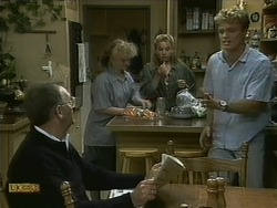 Harold Bishop, Sharon Davies, Bronwyn Davies, Henry Ramsay in Neighbours Episode 1096