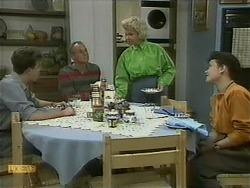 Nick Page, Jim Robinson, Helen Daniels, Lucy Robinson in Neighbours Episode 1096