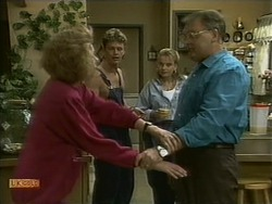 Madge Bishop, Henry Ramsay, Bronwyn Davies, Harold Bishop in Neighbours Episode 1096