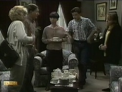 Mrs. Maloney, Mr. Maloney, Hilary Robinson, Matt Robinson, Lee Maloney in Neighbours Episode 1098