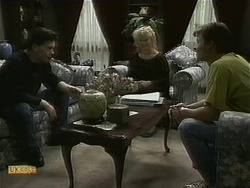 Matt Robinson, Sharon Davies, Mike Young in Neighbours Episode 1099