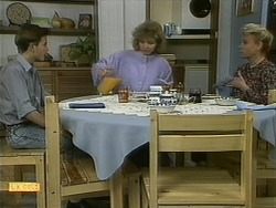 Todd Landers, Beverly Marshall, Helen Daniels in Neighbours Episode 1100