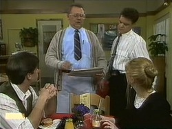 Mike Young, Harold Bishop, Paul Robinson, Melanie Pearson in Neighbours Episode 1100