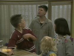 Toby Mangel, Joe Mangel, Sky Mangel, Kerry Bishop in Neighbours Episode 1101