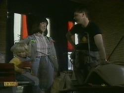 Sky Mangel, Kerry Bishop, Joe Mangel in Neighbours Episode 1101