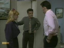 Melanie Pearson, Paul Robinson, Des Clarke in Neighbours Episode 1101