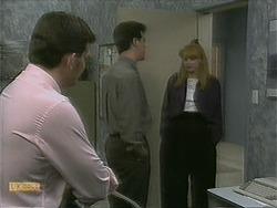 Des Clarke, Paul Robinson, Melanie Pearson in Neighbours Episode 1101