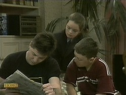 Joe Mangel, Lochy McLachlan, Toby Mangel in Neighbours Episode 1101