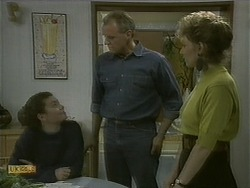 Lucy Robinson, Jim Robinson, Beverly Marshall in Neighbours Episode 1102
