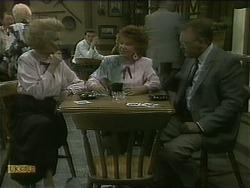 Madge Bishop, Gloria Lewis, Harold Bishop in Neighbours Episode 1103