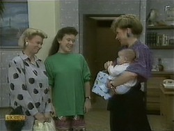 Helen Daniels, Lucy Robinson, Baby Rhys, Beverly Robinson in Neighbours Episode 1103